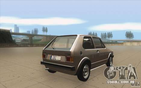 Volkswagen Golf Mk1 - Stock para vista lateral GTA San Andreas