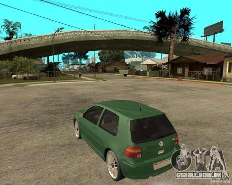 Volkswagen Golf IV GTI para GTA San Andreas esquerda vista