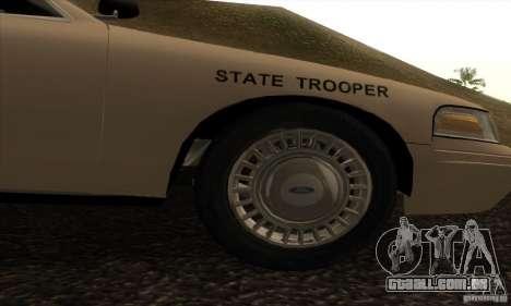 Ford Crown Victoria Iowa Police para GTA San Andreas vista direita