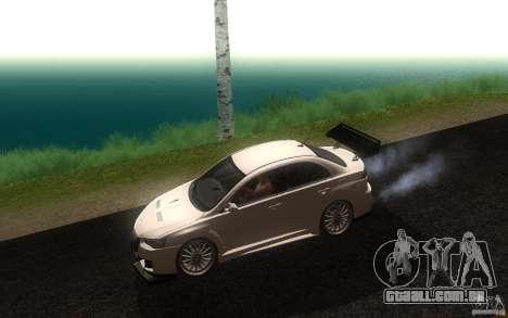 Mitsubishi Lancer EVO X drift Tune para GTA San Andreas esquerda vista