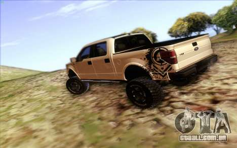Ford F-150 Carryer Metal Mulisha para GTA San Andreas traseira esquerda vista