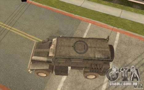 Military Truck para GTA San Andreas traseira esquerda vista
