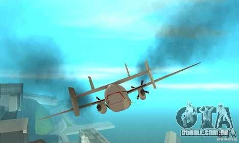 C-2 Greyhound para vista lateral GTA San Andreas