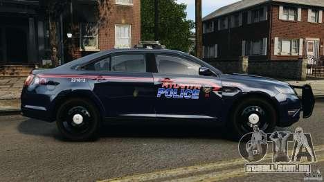 Ford Taurus 2010 Atlanta Police [ELS] para GTA 4 esquerda vista