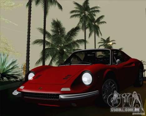 Ferrari 246 Dino GTS para GTA San Andreas vista traseira