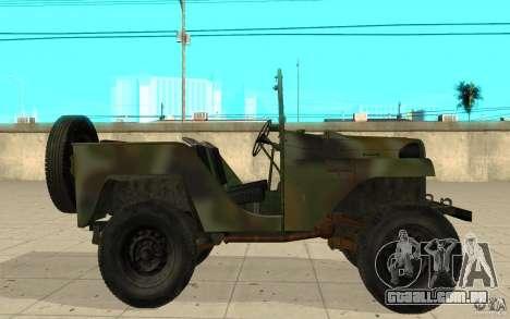 Gaz-64 pele 2 para GTA San Andreas esquerda vista