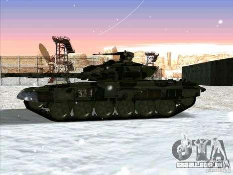 T-90 de Battlefield 3 para GTA San Andreas traseira esquerda vista