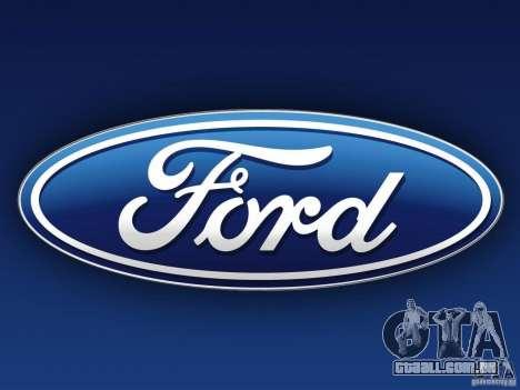 Telas de carregamento Ford para GTA San Andreas segunda tela
