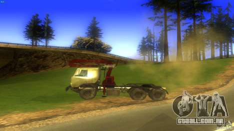 Kamaz para GTA San Andreas esquerda vista