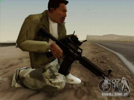 Colt Commando Aimpoint para GTA San Andreas segunda tela
