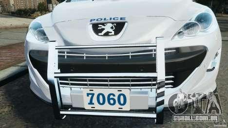 Peugeot 308 GTi 2011 Police v1.1 para GTA 4 rodas