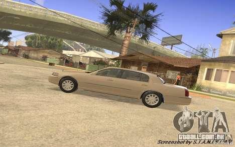 Lincoln Towncar Secret Service para GTA San Andreas vista traseira