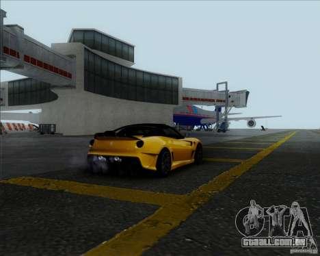 Ferrari Challenge-2009 599XX para GTA San Andreas traseira esquerda vista
