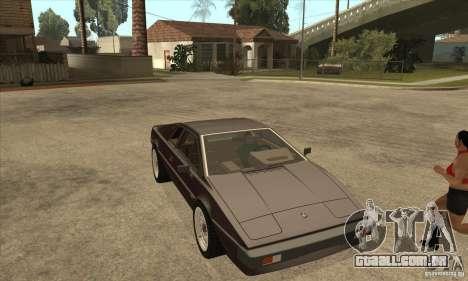 Lotus Esprit S3 para GTA San Andreas vista traseira