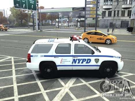 Chevrolet Tahoe NYCPD para GTA 4 esquerda vista