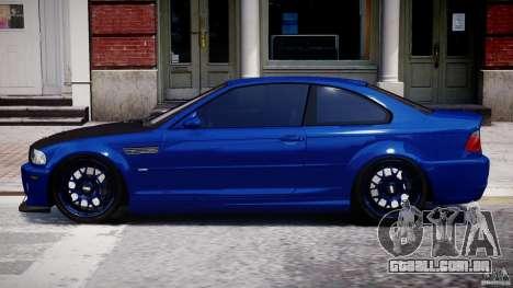 BMW M3 E46 Tuning 2001 para GTA 4 esquerda vista