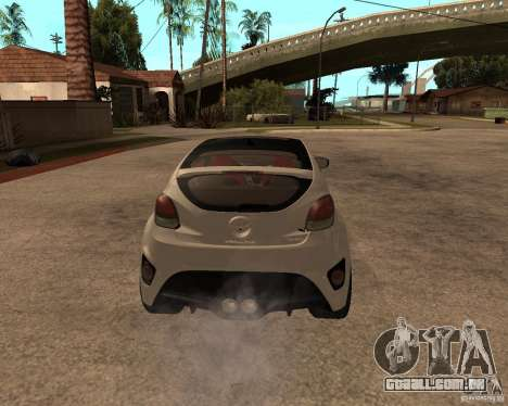 Hyundai Veloster 2012 para GTA San Andreas traseira esquerda vista