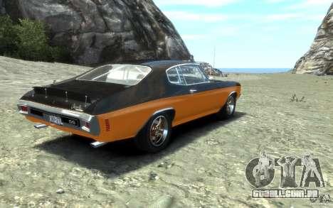 Chevrolet Chevelle SS 1970 para GTA 4 vista de volta