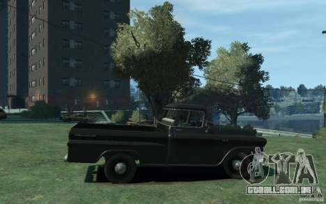 Chevrolet Apache Fleetside 1958 para GTA 4 vista de volta