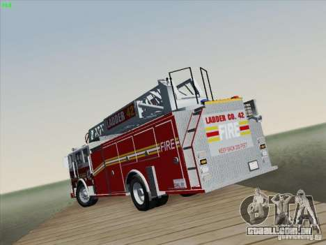 Seagrave Ladder 42 para GTA San Andreas vista inferior
