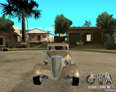 Ford 1934 Coupe v2 para GTA San Andreas vista traseira
