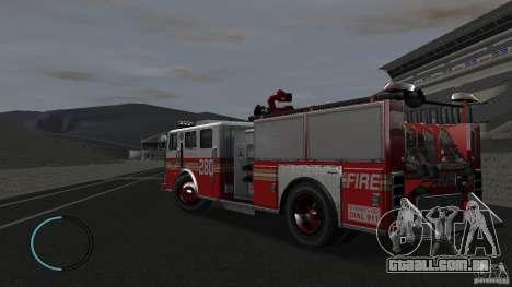 NEW Fire Truck para GTA 4 traseira esquerda vista