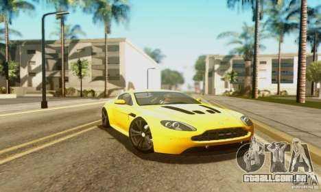 Aston Martin V12 Vantage para GTA San Andreas vista interior