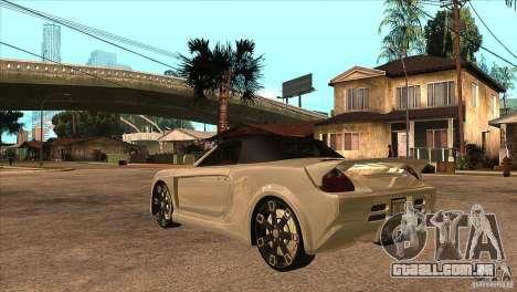 Toyota MR-S Veilside para GTA San Andreas traseira esquerda vista