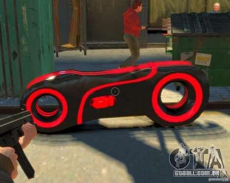 Motocicleta do trono (néon vermelho) para GTA 4 vista direita