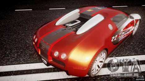 Bugatti Veyron 16.4 v1 para GTA 4 vista inferior