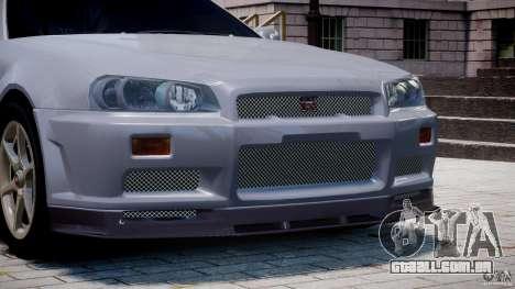 Nissan Skyline GT-R 34 V-Spec para GTA 4 motor