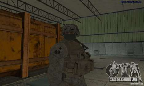 Pele Marine para GTA San Andreas por diante tela