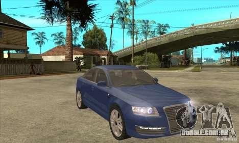 Audi S6 Limousine V1.1 para GTA San Andreas vista traseira