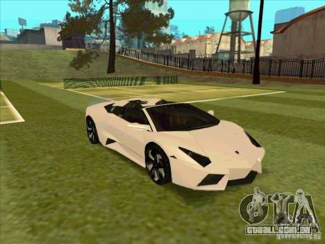 Lamborghini Reventon Convertible para GTA San Andreas vista interior
