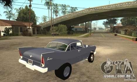 Plymouth Savoy Gasser 1957 para GTA San Andreas vista direita