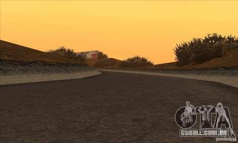 A rota do NFS Prostreet para GTA San Andreas quinto tela