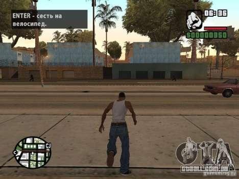 PARKoUR para GTA San Andreas segunda tela