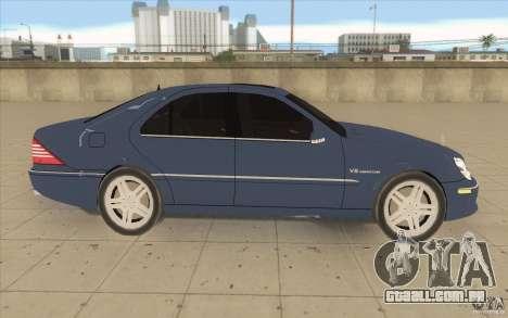 Mercedes-Benz S-Klasse para GTA San Andreas vista interior