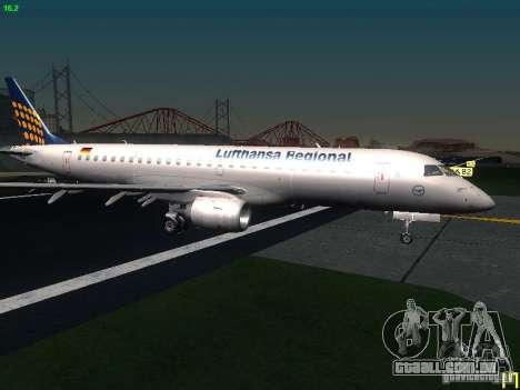 Embraer ERJ 190 Lufthansa Regional para GTA San Andreas