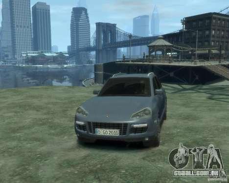 PORSCHE Cayenne turbo S 2009 para GTA 4 vista de volta