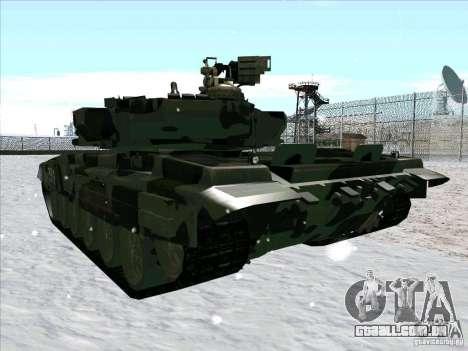 T-90 de Battlefield 3 para vista lateral GTA San Andreas