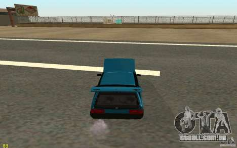 VAZ 2108 para GTA San Andreas vista interior