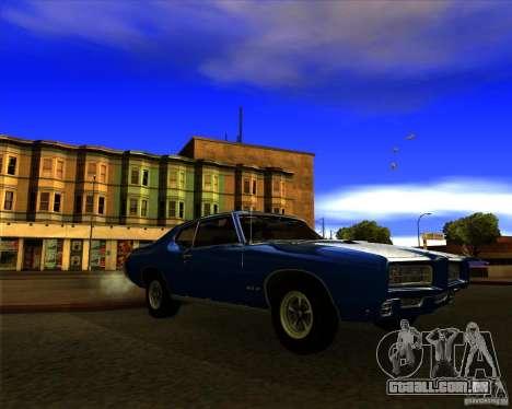 Pontiac GTO 1969 para GTA San Andreas vista traseira