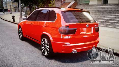 BMW X5M Chrome para GTA 4 vista superior