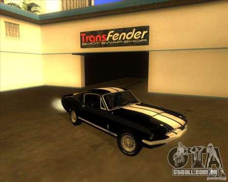 Shelby GT500 1967 para GTA San Andreas
