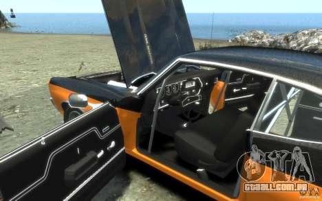 Chevrolet Chevelle SS 1970 para GTA 4 interior