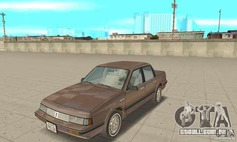 Oldsmobile Cutlass Ciera 1993 para GTA San Andreas esquerda vista