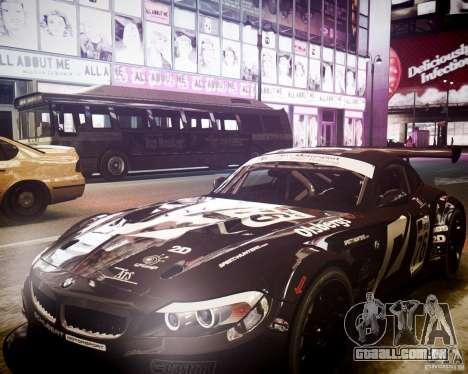 BMW Z4 GT3 2010 para GTA 4 vista lateral