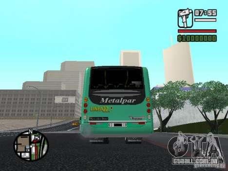 Metalpar 22 para GTA San Andreas traseira esquerda vista