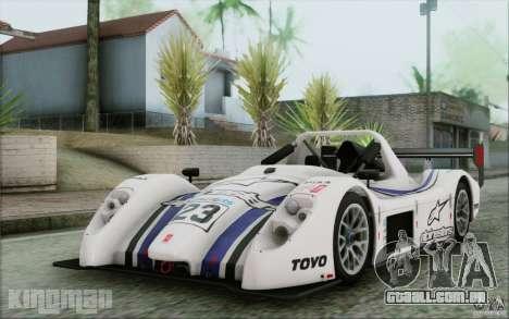 Radical SR3 RS 2009 para GTA San Andreas vista superior